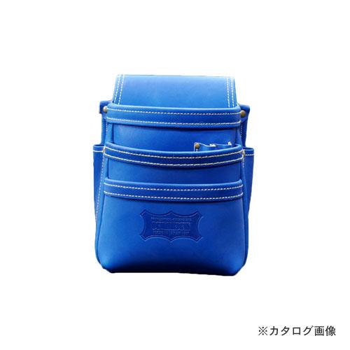 【6月5日限定!Wエントリーでポイント14倍!】ニックス KNICKS KGBL-301DD 最高級硬式グローブ革3段腰袋 ブルー (受注生産品)
