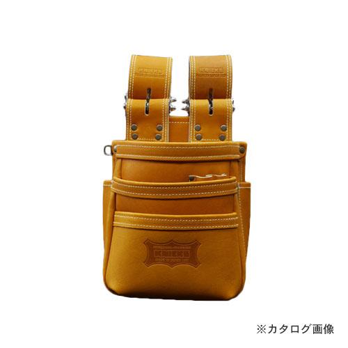 ニックス KNICKS KGC-301DDX 最高級硬式グローブ革チェーンタイプ3段腰袋 キャメル