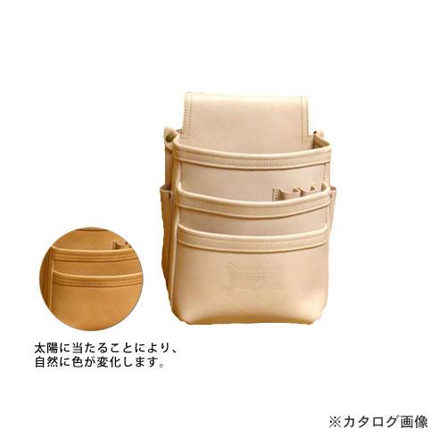 ニックス KNICKS KNS-301DD 総ヌメ革使用3段腰袋 ベージュ