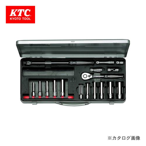 KTC 9.5sq. ディープソケットレンチセット(17点) TB3L11X