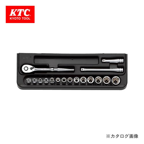 KTC 6.3sq. ソケットレンチセット(17点) TB214