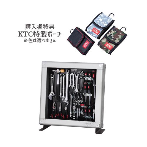 【SK SALE 2019】 KTC 工具セット(薄型収納メタルケースタイプ) 据え付きセット SK35619SF