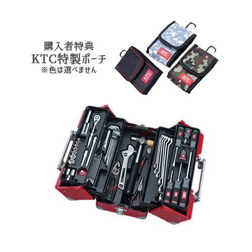 【SK SALE 2019】 KTC 工具セット(両開きメタルケースタイプ) レッド SK35619WR