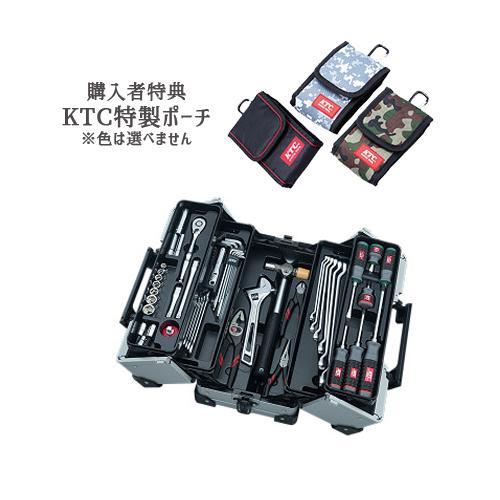【SK SALE 2019】 KTC 工具セット(両開きメタルケースタイプ) メタリックシルバー SK35619WZ