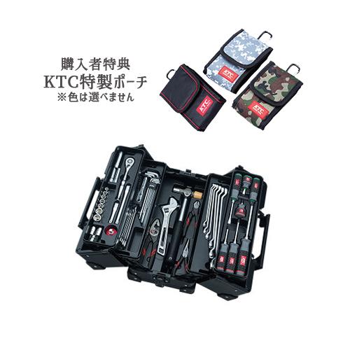 【SK SALE 2019】 KTC 工具セット(両開きメタルケースタイプ) ブラック SK35619WZGBK