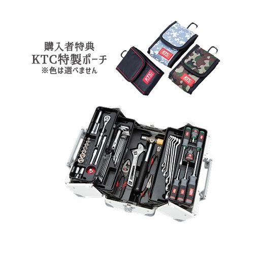 【SK SALE 2019】 KTC 工具セット(両開きメタルケースタイプ) ホワイト SK35719WWH