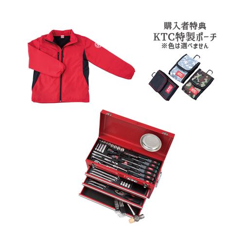 【SK SALE 2019】 KTC 工具セット(チェストタイプ) レッド ブルゾン付 SK36819X