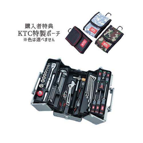 【SK SALE 2019】 KTC 工具セット(両開きメタルケースタイプ) メタリックシルバー SK45219W
