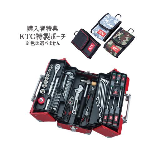 【SK SALE 2019】 KTC 工具セット(両開きメタルケースタイプ) レッド SK45219WR