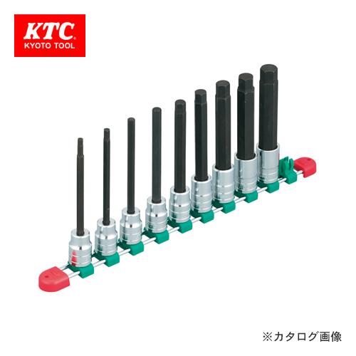 KTC 12.7sq.ロングヘキサゴンビットソケットセット(インチ) (9コ組) TBT4L09BH
