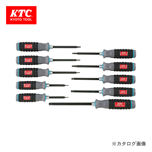 KTC 樹脂柄ボールポイント ヘキサゴンドライバセット(インチ) (10本組) TD1HBP10B