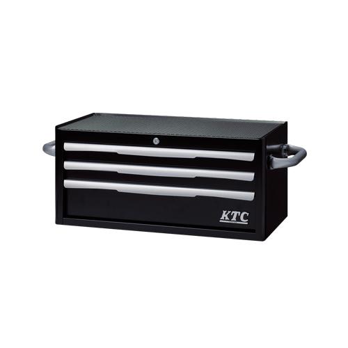 【直送品】KTC フラットトップチェスト(3段3引出し) ブラック EKR-2003BK
