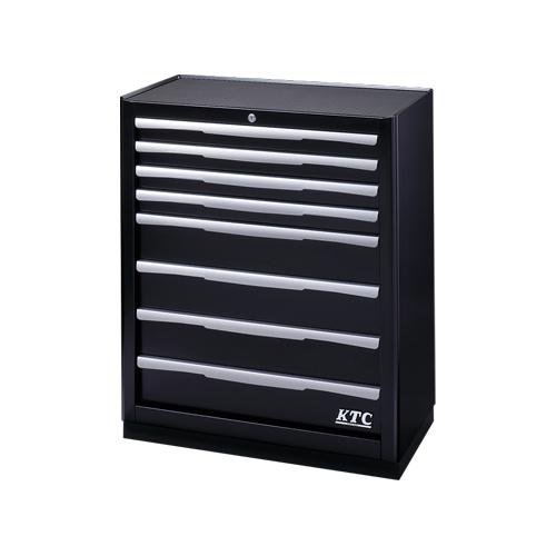 【直送品】KTC ベースキャビネット(8段8引出し) ブラック EKW2008BK