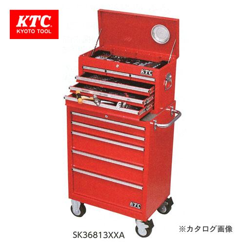 【直送品】KTC 工具セット(チェスト+ローラーキャビネットタイプ) SK36813XXA