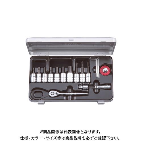 KTC 9.5sq.ショートヘキサゴンビットソケットレンチセット TBT3S17HX