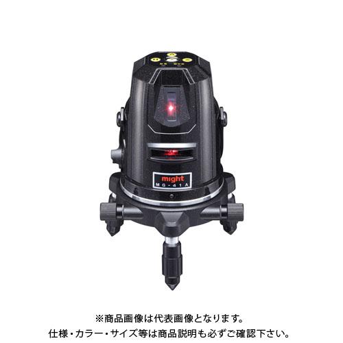 マイト工業 高輝度赤ラインレーザー MGシリーズ レーザー墨出し器 本体+受光器+三脚セット MG-41A