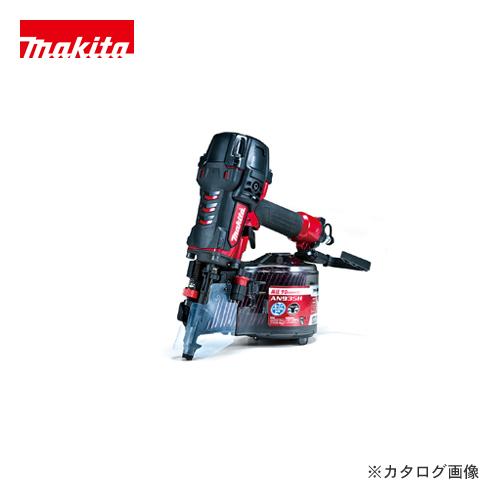 マキタ Makita 90mm高圧エア釘打 エアダスタ付 赤 AN935H