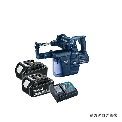 マキタ Makita 18V 6.0Ah 24mm充電式ハンマドリル+集じんシステム付 (バッテリ×2・充電器・ケース付) 黒 HR244DGXVB