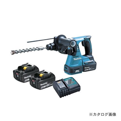 マキタ Makita 18V 6.0Ah 24mm充電式ハンマドリル (バッテリ×2・充電器・ケース付) 青 HR244DRGX