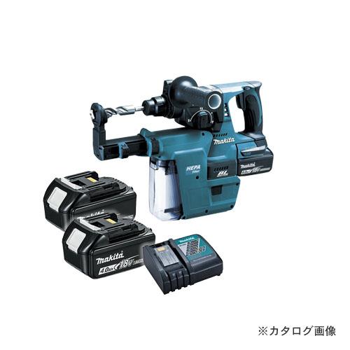 マキタ Makita 18V 6.0Ah 24mm充電式ハンマドリル+集じんシステム付 (バッテリ×2・充電器・ケース付) 青 HR244DRGXV