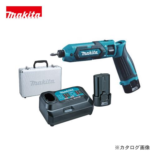 マキタ Makita 7.2V 1.5Ah 充電式ペンインパクトドライバ 青 バッテリー×2本・充電器・アルミケース付 TD022DSHX