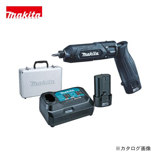 マキタ Makita 7.2V 1.5Ah 充電式ペンインパクトドライバ 黒 バッテリー×2本・充電器・アルミケース付 TD022DSHXB