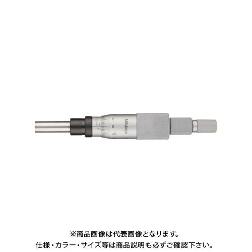 ミツトヨ Mitutoyo マイクロメーターヘッド(高機能形)スピンドル直進式 ストレートステム ラチェット付 先端平面(超硬合金チップ付) (153-201) MHK-25R