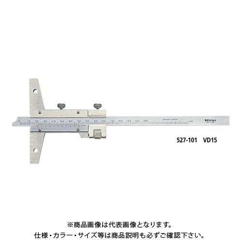 ミツトヨ Mitutoyo デプスゲージ(微動送り付) 200mm (527-102) VD20