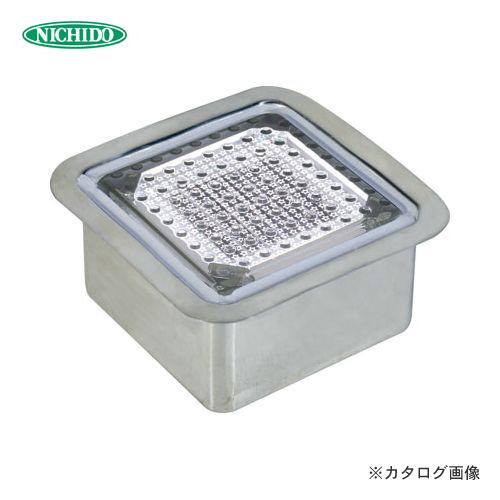 【納期約2ヶ月】日動工業 ソーラーLEDタイル100 ステンレスケース正方形タイプ 白 NFT0404W-SUS