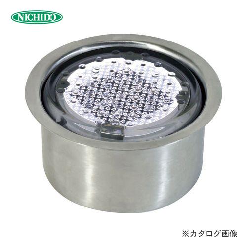 【納期約2ヶ月】日動工業 ソーラーLEDタイル100 ステンレスケース円筒タイプ 白 NFT100W-SUS