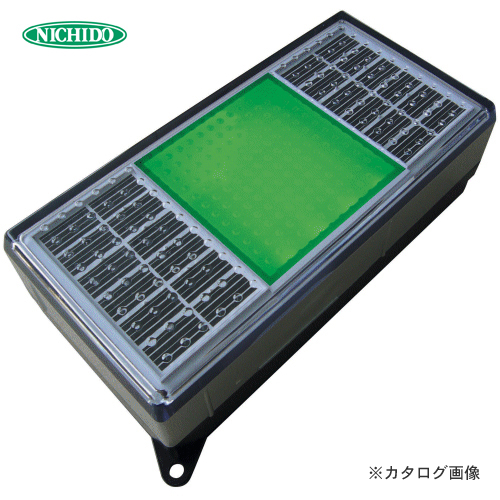 日動工業 ソーラーLEDタイル99 緑 NST0408GL