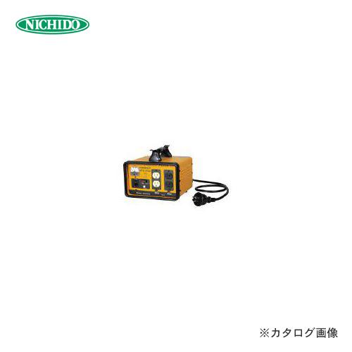 【1/10限定!Wエントリーでポイント14倍!】日動工業 変圧器 降圧専用トラパック 2KVA NTB-200D