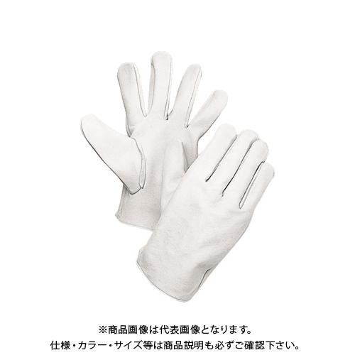 大中産業 [10双入] 牛革手袋 牛クレスト 白 Lサイズ 100W