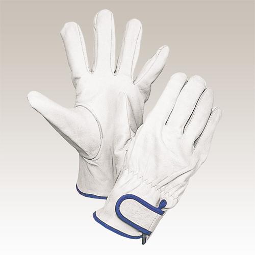 大中産業 [10双入] 牛革手袋 牛クレスト マジック式 Lサイズ 111W