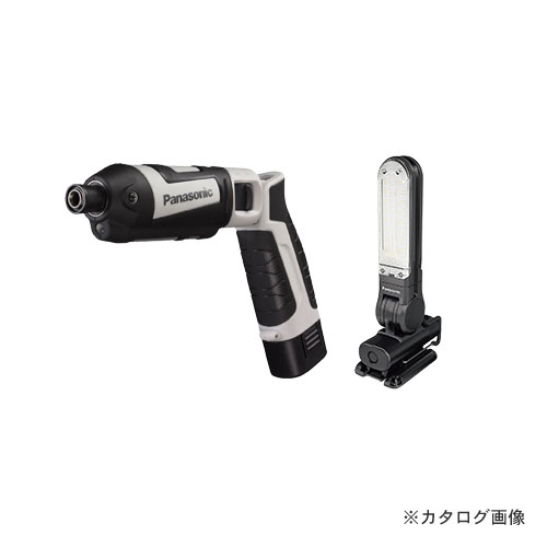 パナソニック Panasonic 充電スティックインパクトドライバー 7.2V EZ7521(グレー) + LEDマルチライト EZ3720(黒) EZ7521LA2STH