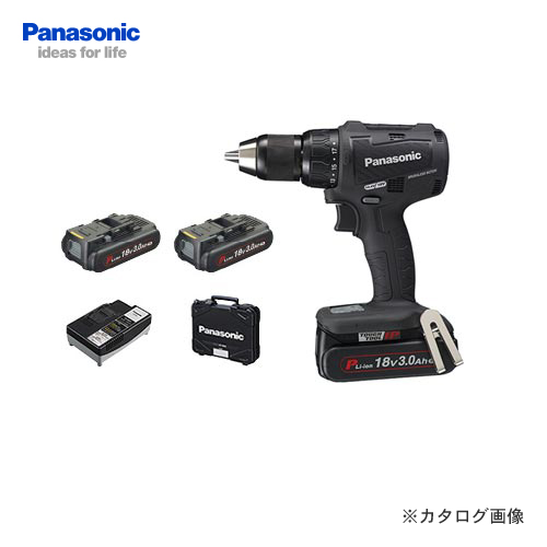 パナソニック Panasonic EZ79A2PN2G-B 18V 3.0Ah 充電振動ドリル&ドライバー (黒)