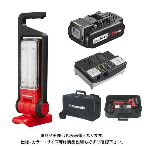 【KYSオリジナル】(電池・充電器・ケース付)パナソニック Panasonic 工事用充電LEDマルチ投光器(赤) EZ37C3-R