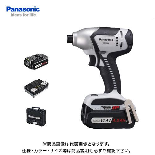 【6月5日限定!Wエントリーでポイント14倍!】【KYSオリジナル】パナソニック Panasonic EZ7544LS1S-B 14.4V 4.2Ah 充電式インパクトドライバー バッテリ・充電器・ケース付