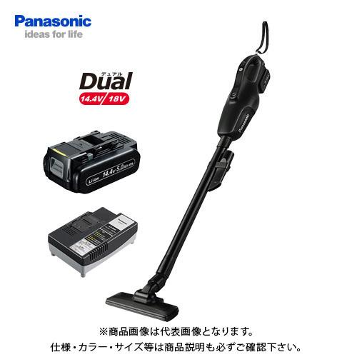 パナソニック Panasonic 工事用 充電コードレスクリーナー ブラック Dual 14.4V (5.0Ah電池1個付) EZ37A3LJ1F-B
