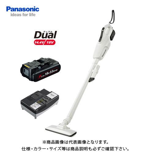 パナソニック Panasonic 工事用 充電コードレスクリーナー ホワイト Dual 18V (3.0Ah電池1個付) EZ37A3PN1G-W