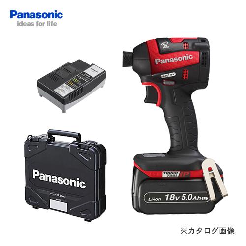 【KYSオリジナル】パナソニック Panasonic 18V 5.0Ah 充電インパクトドライバー (赤) バッテリー・充電器・ケース付 EZ75A7LJ1G-R