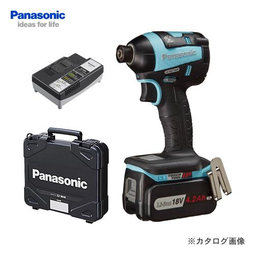 【KYSオリジナル】パナソニック Panasonic 18V 4.2Ah 充電インパクトドライバー (青) バッテリー・充電器・ケース付 EZ75A7LS1G-A