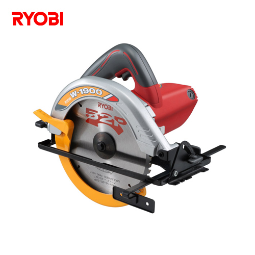 【直送品】リョービ RYOBI 電動丸鋸 ノコ刃外径190mm 切込深さ68mm W-1900