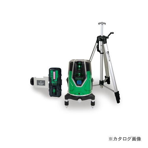 シンワ測定 レーザーロボ グリーン Neo E Sensor 51 縦・横・大矩・地墨 受光器・三脚セット 71613