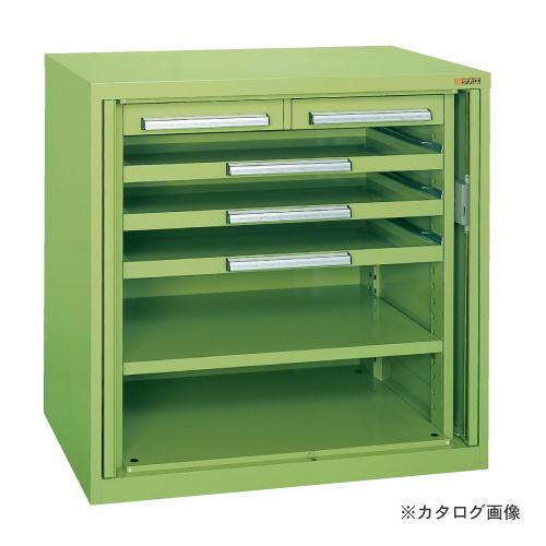 【直送品】サカエ SAKAE ミニ工具室・横ケント式 K-K106