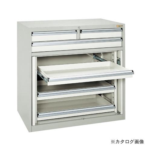 【直送品】サカエ SAKAE キャビネット保管庫・横ケント式(ボールスライドレール) K10-33ABGY