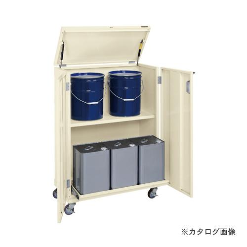 【直送品】サカエ SAKAE 一斗缶保管庫(スチールタイプ) 移動式 KU-ITKAR