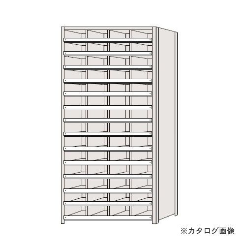 【運賃見積り】【直送品】サカエ SAKAE 区分棚 コボレ止め付タイプ NCC110-414