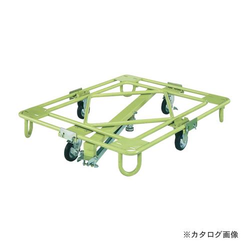 【直送品】サカエ SAKAE 自在移動回転台車 軽量型 センターベース付 RA-2KG