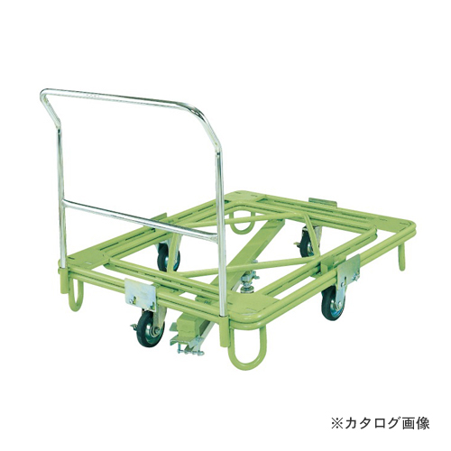 【直送品】サカエ SAKAE 自在移動回転台車 中重量型 取手・センターベース付 RC-1FG